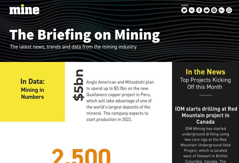 The Briefing on Mining - Mine Magazine   Issue 74   November 2018